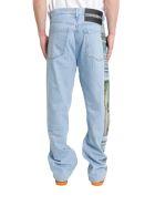 Calvin Klein Photographic Printed Blue Jeans - Blu