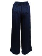 Gold Hawk Silk Trousers - Blue