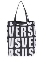 Versus Versace Logo Print Tote - White