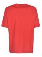 MSGM Chest Logo Print T-shirt - ROSSO