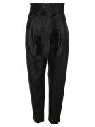 Philosophy di Lorenzo Serafini Philosophy Eco Leather High Waist Pants - BLACK