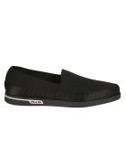 Prada Linea Rossa Shoes Classic Moccasin Loafers - Nero