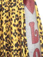 Ultrachic Skirt Plisse W/side Band Georgette - Animalier Yellow