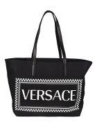 Versace Logo Tote - Black/White