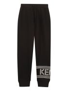 Kenzo Kids Drawstring Waist Track Pants - black