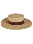 Ruslan Baginskiy Rope Applique Woven Hat - Natural
