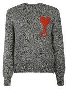 Ami Alexandre Mattiussi Knitted Sweater - Black/white