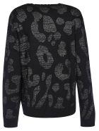 Marcelo Burlon Leopard Sweater - Dark Grey/Black