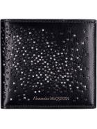Alexander McQueen Leather Flap-over Wallet - black