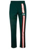 Palm Angels Monogram Track Pants - Dark Green/Red/White