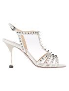 Prada Sandals LEATHER SANDALS WITH STUDS