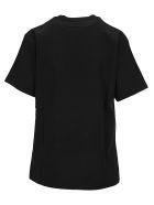 Golden Goose Logo Usa Flag Print T-shirt - BLACK