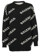 Balenciaga Logo Sweater - Black/white