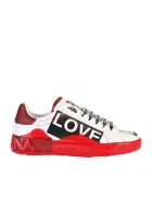 Dolce & Gabbana Printed Sneakers - White