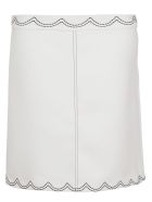 RED Valentino Scalloped Stitch Skirt - Bianco