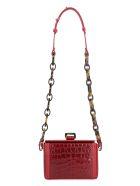 Nico Giani Cerea Crocodile Print Leather Bag - red