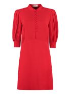 Givenchy Mandarin Shirt Collar Dress - red