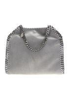 Stella McCartney Grey Falabella Mini Triple Chain Bag - Grigio