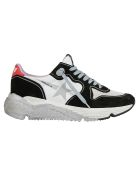 Golden Goose Running Sneakers - White/red/silver