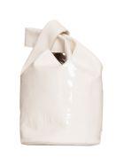 Jil Sander Small Market Patent Bucket Bag - AVORIO