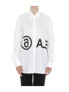 MM6 Maison Margiela Logo Shirt - White