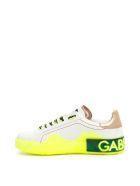 Dolce & Gabbana Portofino Melt Sneakers - BIANCO ORO GIALLO (White)