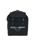 Dolce & Gabbana Palermo Neoprene Backpack With Logo - Black