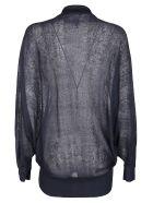 Agnona Dark Indigo Linen-silk Blend Blouse - DARK INDIGO