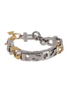 Dsquared2 Gold And Silver Brass-blend Bracelet - SILVER GOLD