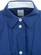 Paul Smith Dress S/s Chemisier Elastic Waist - Navy