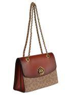 Coach Twist-lock Shoulder Bag - Rust