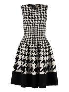 Alexander McQueen Jacquard Knit Dress - black