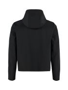 Prada Technical Fabric Hooded Jacket - black