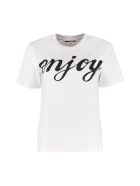 McQ Alexander McQueen Printed Cotton T-shirt - White