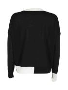 Roberto Collina Sweater - Nero Bianco