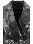 Balmain Silver Double Breasted Blazer. - Argento