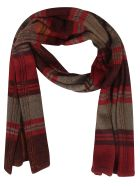 De Clercq Striped Scarf - Multi red