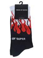 Vision of Super Flame Socks - Black