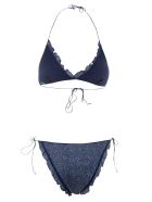 Oseree Ruffle Applique Bikini - Blue