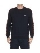 Calvin Klein Stripe Sweatshirt - Navy