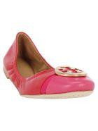 Tory Burch Minnie Cap-toe Ballet - Brillant red/bright azalea