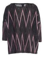 M Missoni Sweater 3/4s A Line Lurex - I Rosa