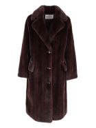 STAND STUDIO 'theresa' Polyester Coat - Brown