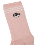 Chiara Ferragni Flirting Eye Socks - pink