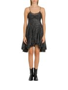 Philosophy di Lorenzo Serafini Pleated Lurex Dress - Nero