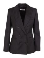 Max Mara 'zinco' Wool Blazer - Black