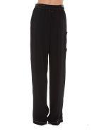 MM6 Maison Margiela High Waist Trousers - Black