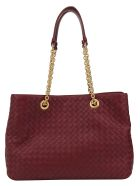 Bottega Veneta Handbag - Bordeaux/gold
