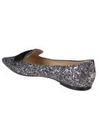 Jimmy Choo Gala Ballerinas - Gunmetal mix