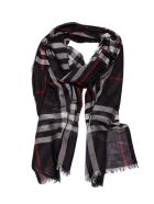 Burberry Checked Print Scarf - Blu multicolor